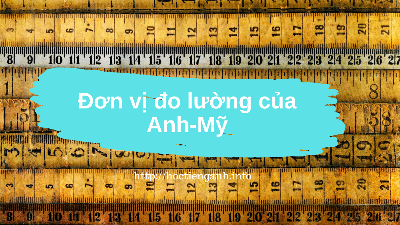 don vi do luong tieng anh