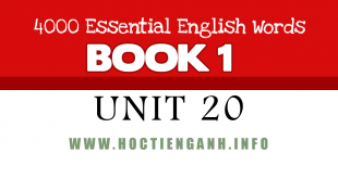 4000Essential english words-unit20