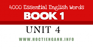 4000Essential english words unit4