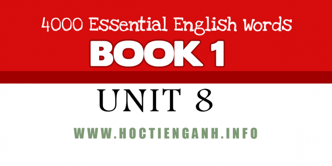 4000Essential english words-unit8