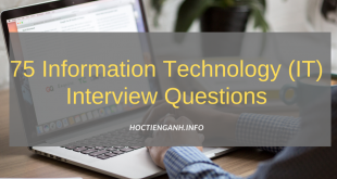75 Information Technology IT Interview Questions