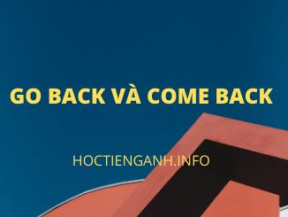 go back và come back