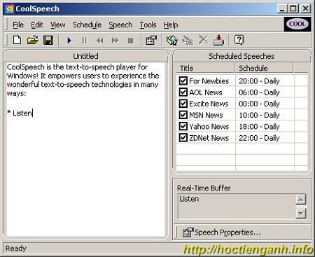 Phần mềm đọc Tiếng Anh- cool speech