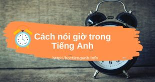 cach noi gio trong tieng anh 1