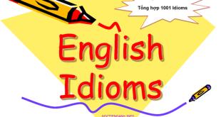 1001 thành ngữ Tiếng Anh hay