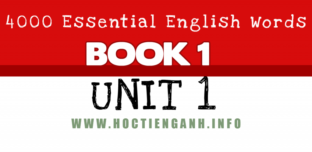 4000Essential english words unit1