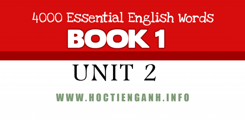 4000Essential english words unit2