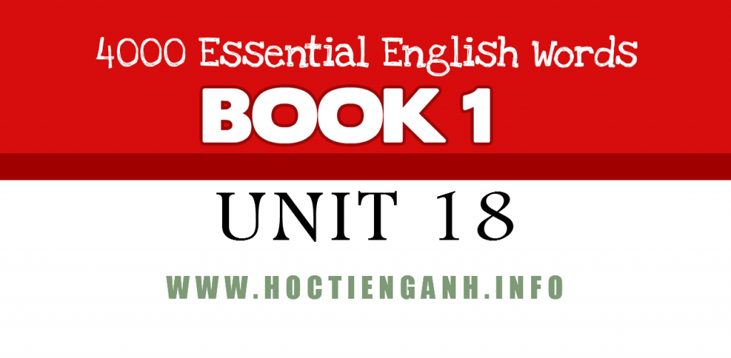 4000Essential english words unit18