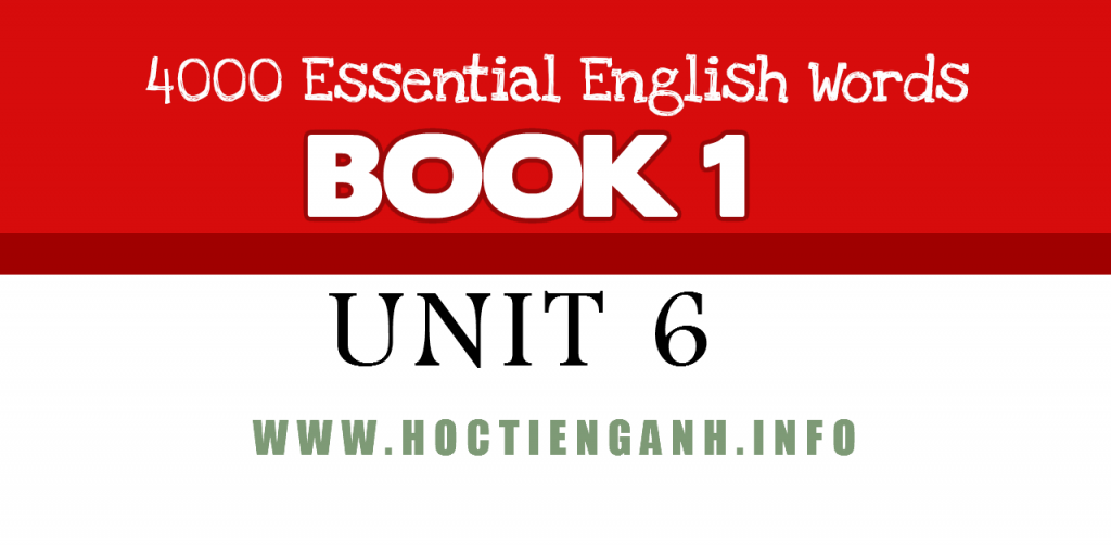 4000Essential english words unit6