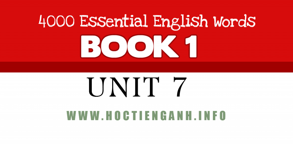 4000Essential english words unit7