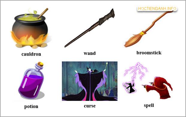 từ vựng phép thuật trong Tiếng Anh